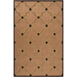 Woven Tan Tewa Indoor/Outdoor Moroccan Lattice Rug (8'8 x 12')