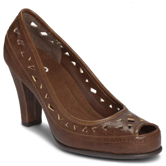A2 by Aerosoles Women's 'Benchanted' Brown Cutout Pumps