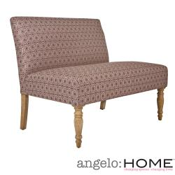 angelo:HOME Bradstreet Art Deco Tile Dusty Plum Upholstered Armless Settee