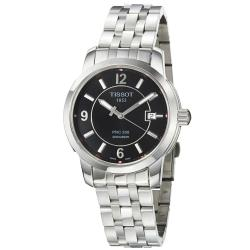 Tissot Men's 'PRC 200' Black Dial Stainless Steel Quartz Watch