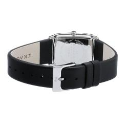 Skagen Women's Black Leather Band Watch