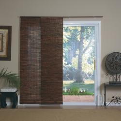 Mahogany Bamboo Windows and Patio Doors Track Panels