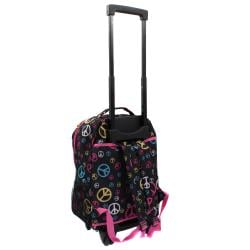 Rockland Designer Peace 17-inch Rolling Carry-On Backpack