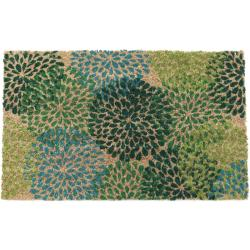 Shades of Green Non-slip Coir Doormat