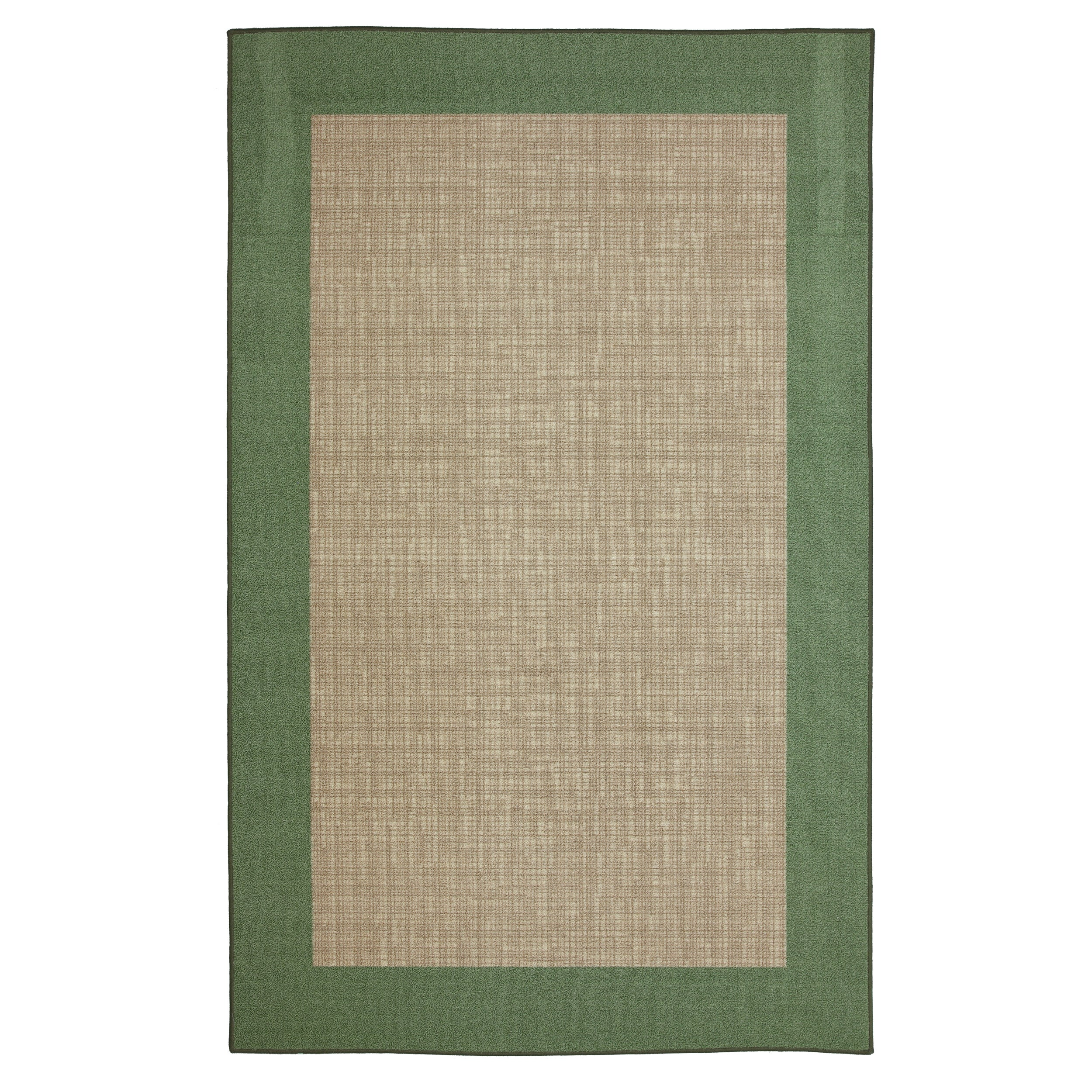 Indoor Outdoor Crosshatch Lime Green Rug 5 x 8