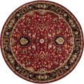 Hand-tufted Red Alatana Wool Rug (4' Round)