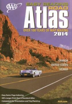 AAA Easy Reading Road Atlas 2014 (Paperback)