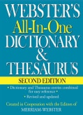 Webster's All-In-One Dictionary & Thesaurus (Hardcover)