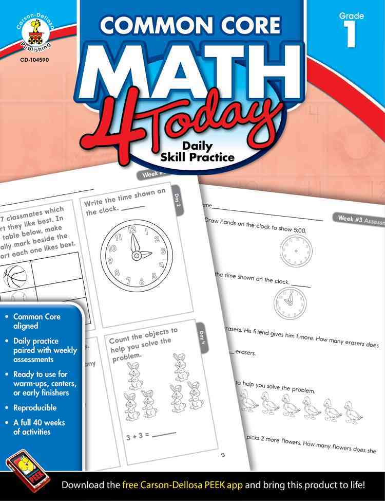 Common Core Math 4 Today, Grade 1: Daily Skill Practice (Paperback)