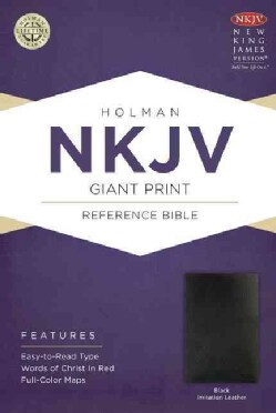 Holy Bible: New King James Version Giant Print Reference Bible, Black, Imitation Leather (Paperback)