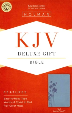 The Holy Bible: King James Version Deluxe Gift Bible, Teal, Leathertouch (Hardcover)