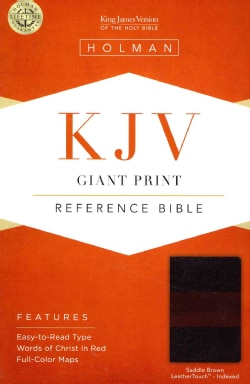 The Holy Bible: King James Version Giant Print Reference Bible, Saddle Brown, Leathertouch: Giant Print Reference... (Paperback)