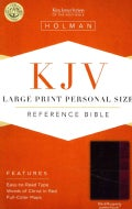 Holy Bible: King James Version, Black/Burgundy, LeatherTouch, Personal Size, Reference (Paperback)
