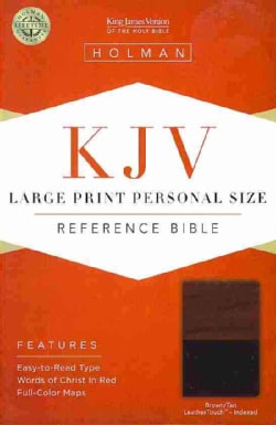 The Holy Bible: King James Version, Brown / Tan, Leathertouch, Personal Size Reference Bible (Paperback)