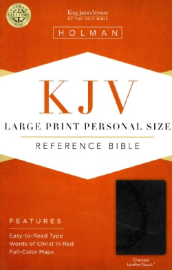 Holy Bible: King James Version, Charcoal, LeatherTouch, Personal Size, Giant Print, Reference (Paperback)