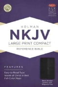 The Holy Bible: New King James Version, Black Bonded, Leather With Magnetic Flap, Holman Reference Bible (Paperback)