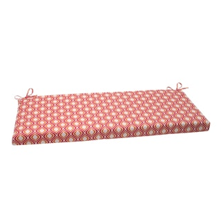 Pillow Perfect Pink/ Orange Outdoor Zinger Bench Cushion