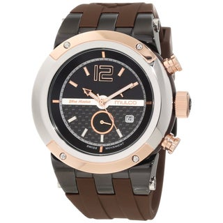 Mulco Unisex Brown Stainless Steel Swiss Quartz Watch