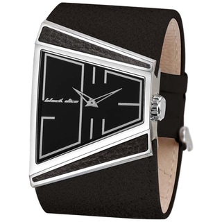 Black Dice Men's 'Hustle' Black Leather Watch