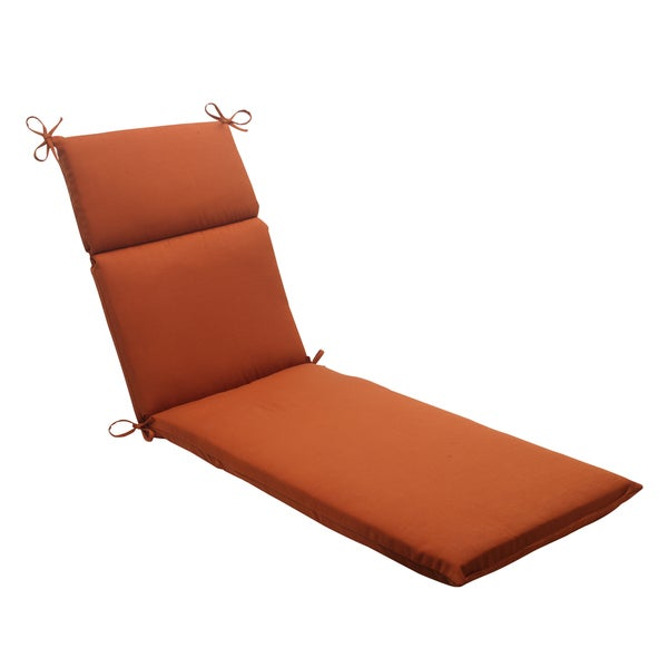 Pillow Perfect Burnt Orange Outdoor Cinnabar Chaise Lounge Cushion