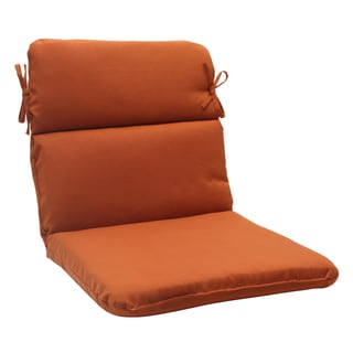 Pillow Perfect Burnt Orange Outdoor Cinnabar Rounded Chair Cushion