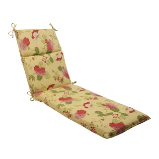 Pillow Perfect Lemonade Outdoor Risa Chaise Lounge Cushion