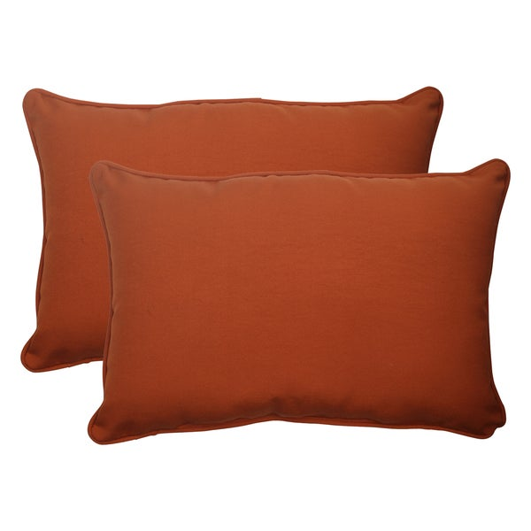 Rectangular Pillow In Red Brown Set Of 2