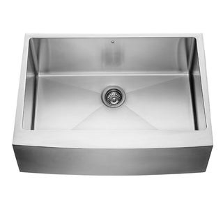30-inch Farmhouse Stainless Steel 16 Gauge Single Bowl Kitchen Sink