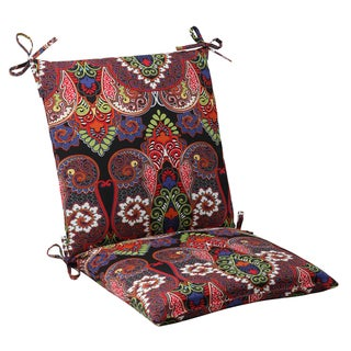 Pillow Perfect Black Outdoor Marapi Squared Chair Cushion