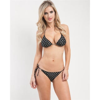 Stanzino Women's Peace Pattern Triangle Bikini Set