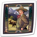 Rick Kersten 'Teddy Roosevelt' Unwrapped Canvas