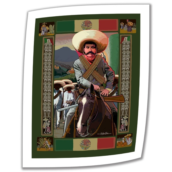 Rick Kersten 'Zapata' Unwrapped Canvas