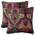 Pillow Perfect Black Outdoor Marapi Corded Throw Pillow (Set of 2)