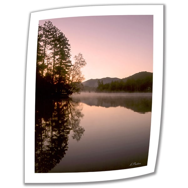 Linda Parker 'Mirror Lake, Lake Placid' Unwrapped Canvas