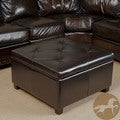 Christopher Knight Home Weldon Leather Storage Ottoman