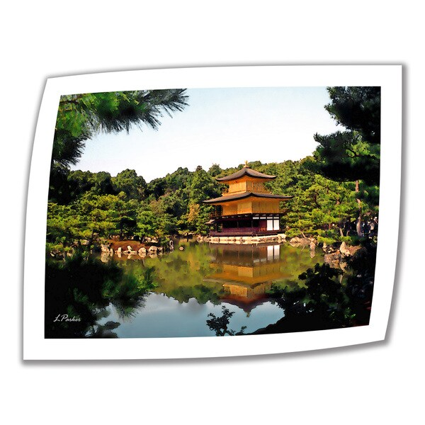 Linda Parker 'Kinkakuji ' Unwrapped Canvas
