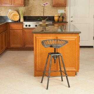Christopher Knight Home Chapman Saddle Silver Barstool