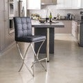 Christopher Knight Home Markson Black Leather Barstool