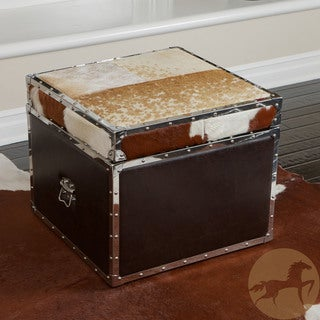 Christopher Knight Home Arizona Cowhide Storage Cube