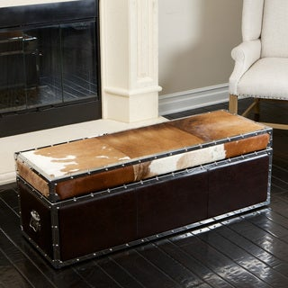 Christopher Knight Home Arizona Cowhide Storage Trunk