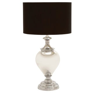 Casa Cortes Artisan Brushed Silver Ceramic Table Lamp