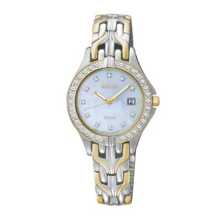 Seiko Women's Two-Tone Swarovski Element Bezel Watch