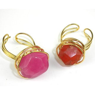 Handmade Agate Chunk Statement Ring (India)