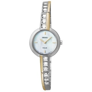 Seiko Women's Solar Stainless Steel Two-Tone Mother-Of-Pearl Watch