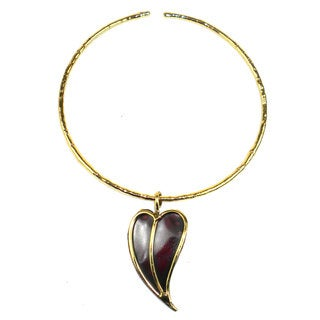 Handcrafted Heart Copper and Brass Pendant Necklace (South Africa)