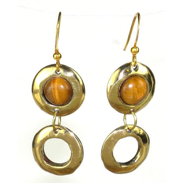 Handcrafted Tiger Eye Doubles Earrings (South Africa)