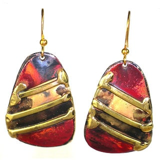 Handcrafted Copper and Brass Serenity Earrings (South Africa)