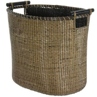 Rattan Laundry Hamper with Pole Handles (China)