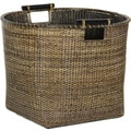 Antique Finish Rattan Tall Storage Bin (China)