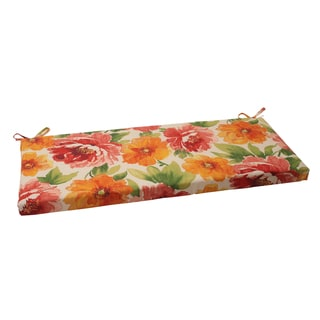 Pillow Perfect Orange Outdoor Primro Bench Cushion